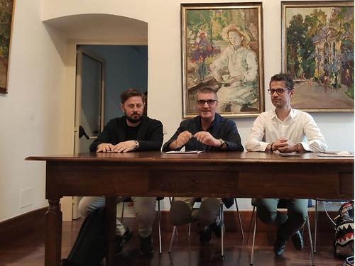 da sx Giovanni Mastrangelo, Lucio Romano, Fabio Salvatore