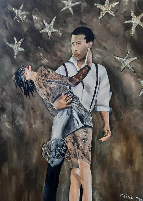 פרידה פירו ציירת ישראלית אמנית ריאליסטית ריקוד לטינו פרידה ציירת