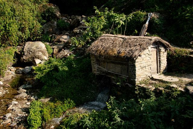 Dans le village de Landruk