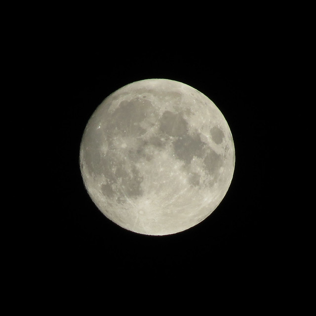 Waxing gibbous, almost full Moon (2013-11-16 at 19:37 UT)