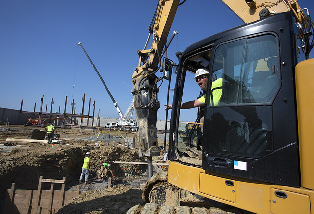 Steel beams placed at Hampden Medical Center site