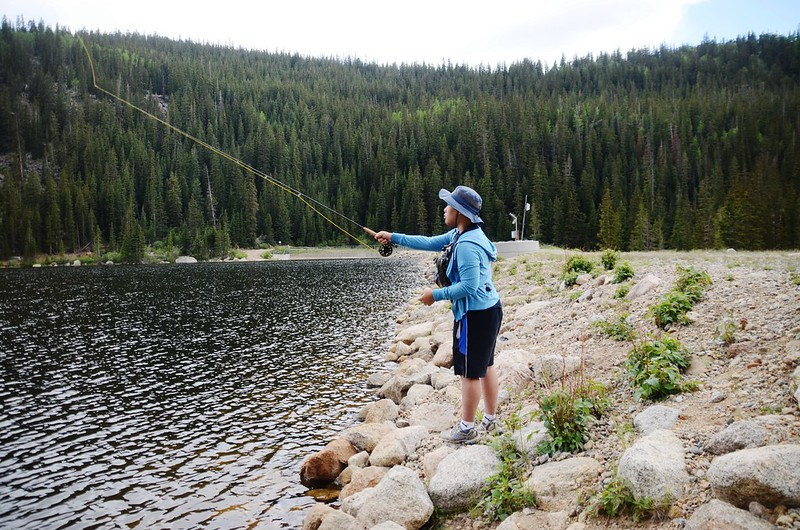 Fly fishing, Idaho Springs Reservoir  (3)