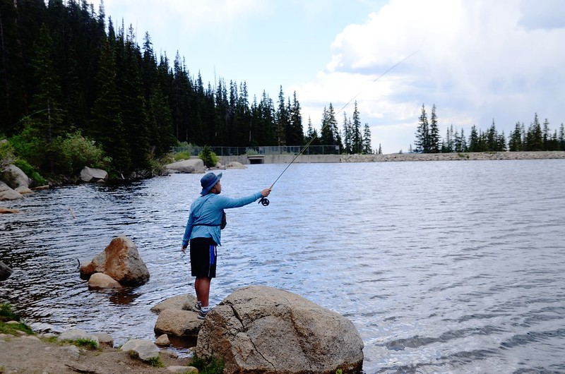 Fly fishing, Idaho Springs Reservoir  (6)