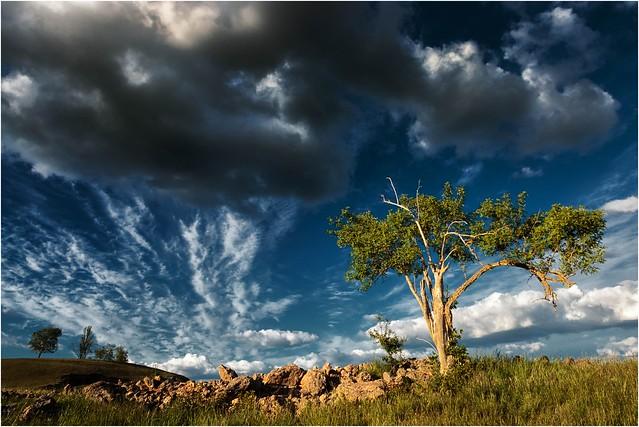Sonnenschein und Wolken