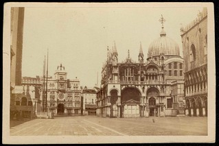 Piazza San Marco in Venice. CDV circa 1870. No photographer's credit.