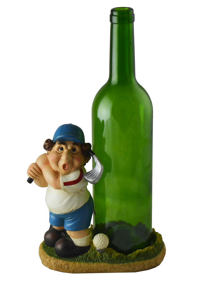 Golfer Wine Bottle Holder