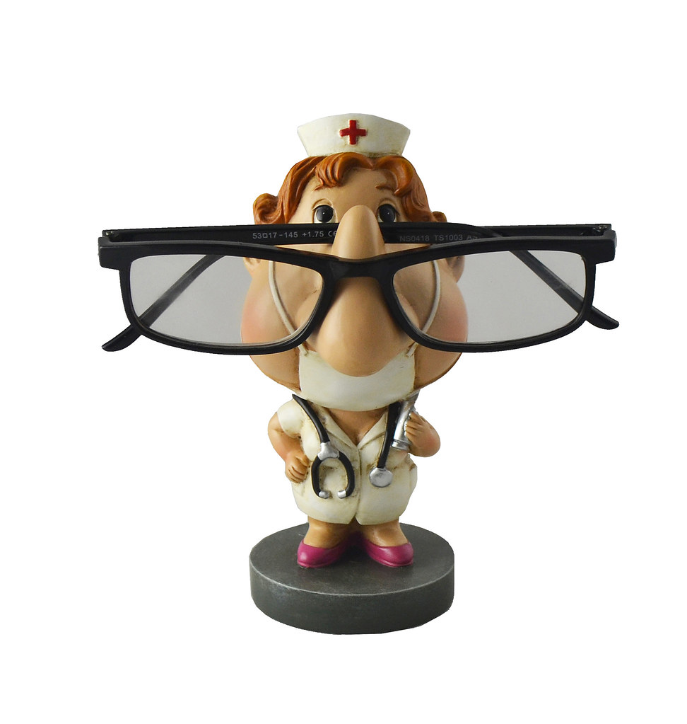 Polyresin Nurse Eyeglass Holder