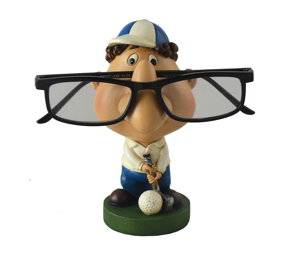 Polyresin Nerdy Golfer Eyeglass Holder