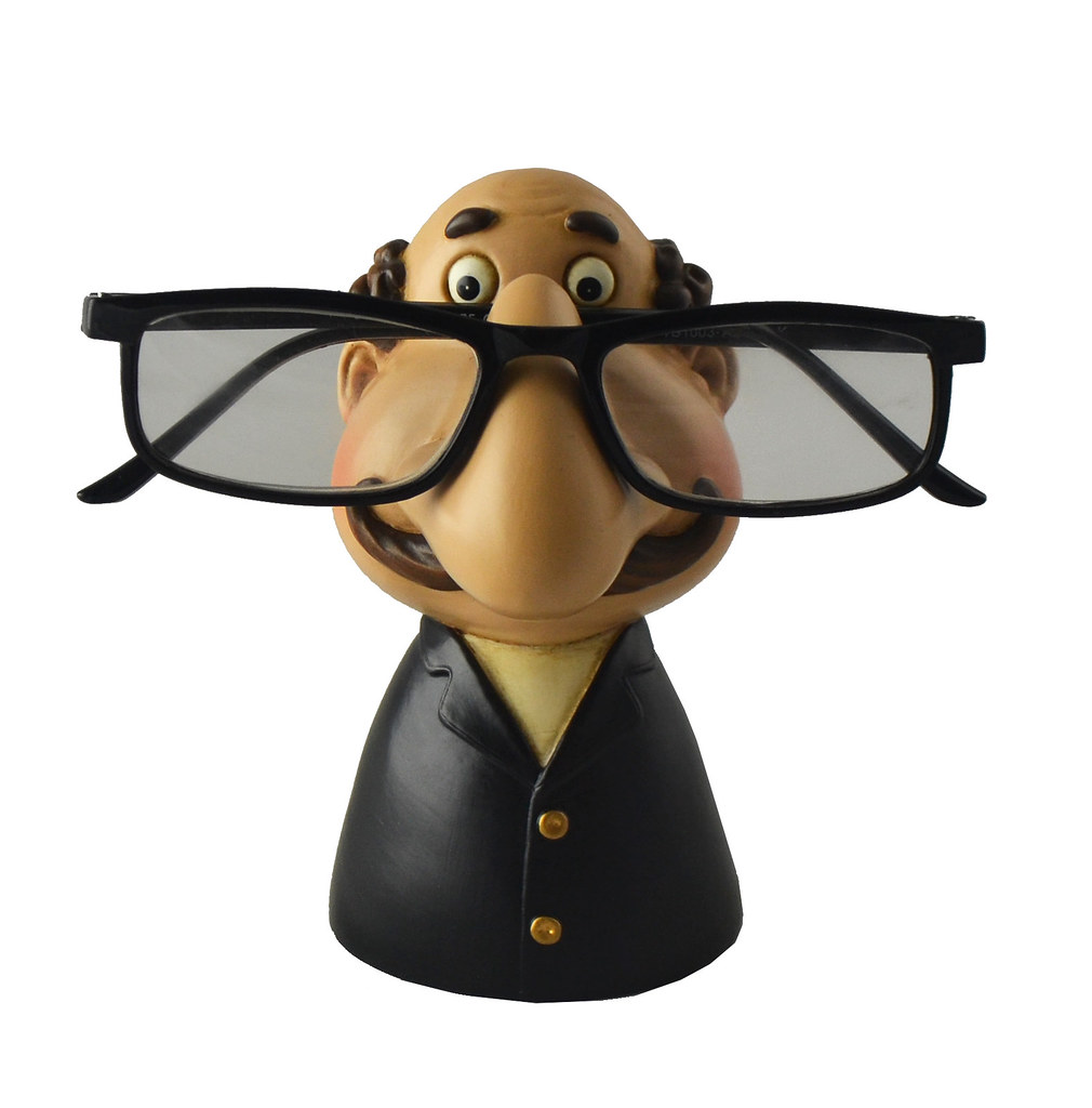 Grandpa Black Eyeglass Holder