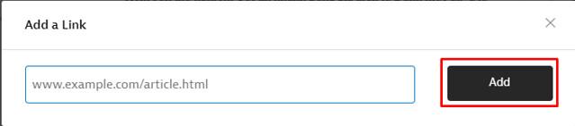 add bài viết vào tài khoản Instapaper