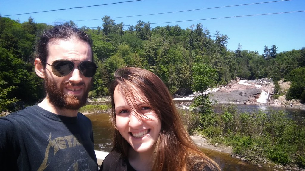 An amazing waterfall just beside the Trans-Canada highway