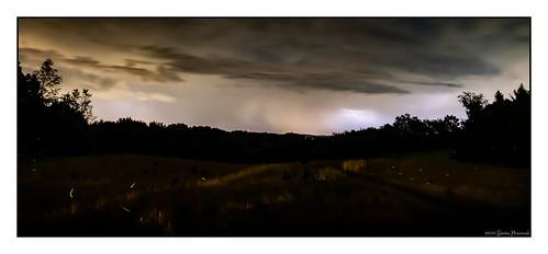 fakenews heatlightning lightning storm clouds rain tower fireflies glow yard 1000pm 30seconds
