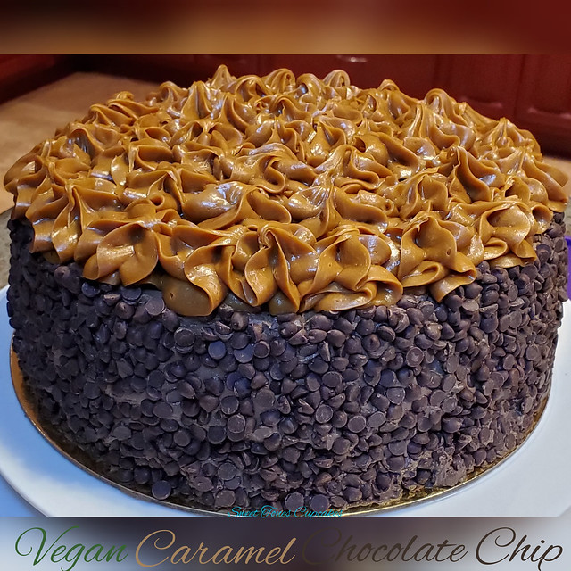 Vegan Caramel Chocolate Chip-sweettonescupcakes