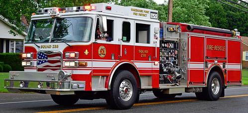 fire truck ct parade pierce warehouse point east windsor arrow xt engine squad