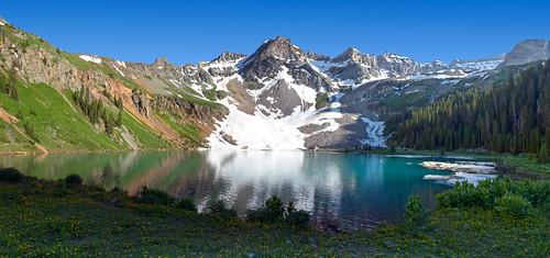 lake bluelake mountains colorado summer