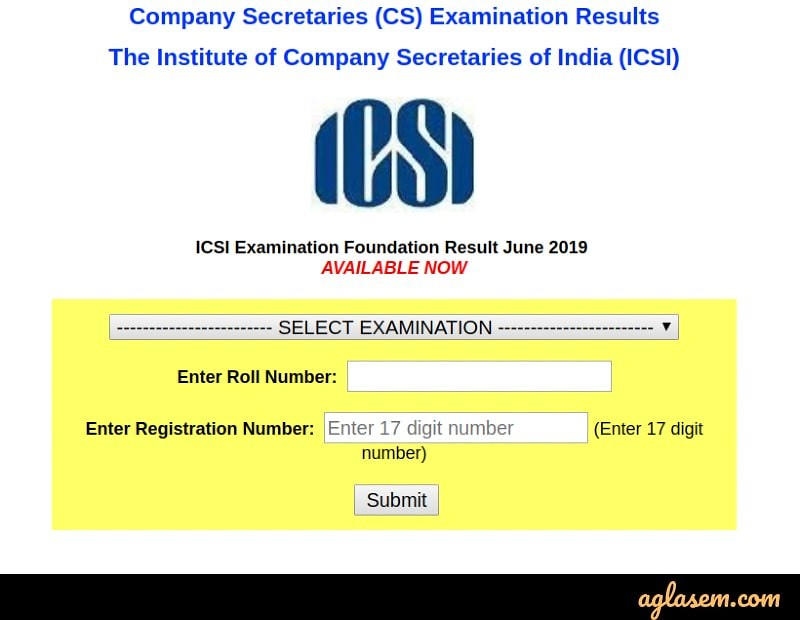 CS Foundation June 2019 result