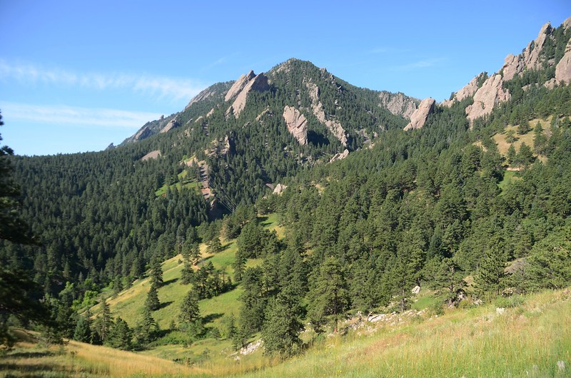 Looking Southwest at Bear Peak from NCAR Trail
