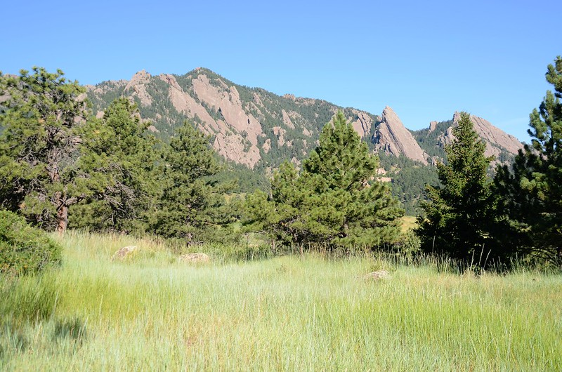 Looking Northwest at Flatirons from NCAR (1)