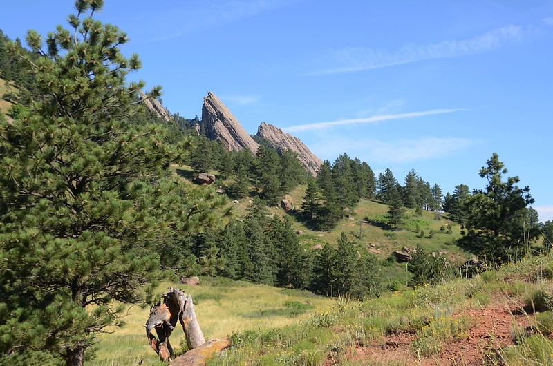 Looking Northwest at Flatirons from NCAR Trail (1)