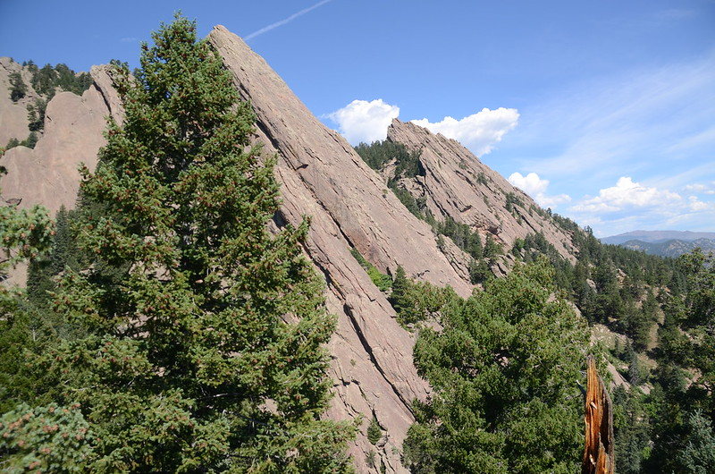 Looking at Flatirons from Sentinel Pass East ridge (3)
