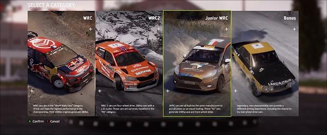 WRC 8 Carrière modus niveaus