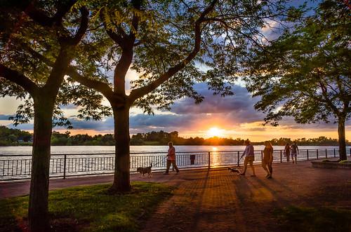 2019 amherstburg canada detroitriver july navyyardpark ontario summer sunset u