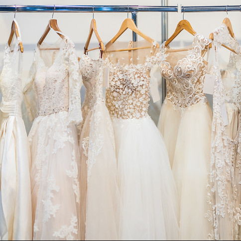 So many wedding gowns