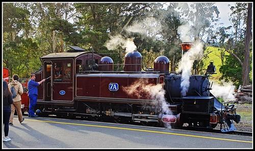 NA class locomotive No. 7A  at Menzies Creek