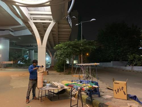 City Life - Hawkers' Closing Hours, Pragati Maidan Metro Station