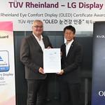 LG디스플레이 OLED TV용 패널, TUV라인란드 인증 획득