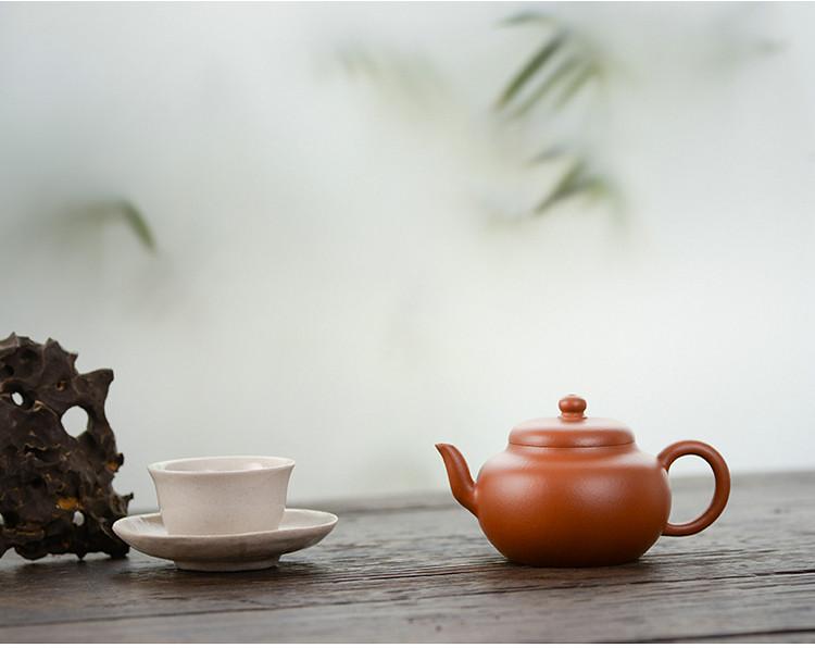 """Yixing """"Si Yuan"""" Teapot Capacity around 110CC  """"Zhao Zhuang Zhu Ni"""" Mud"""