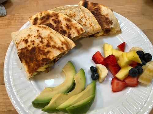 breakfast quesadillas with fruit