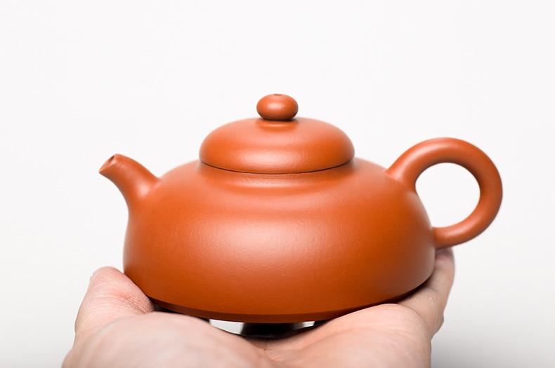 """YiXing """"Yuan Bi"""" TeaPot Capacity Around 110CC """"Zhu Ni"""" Mud"""