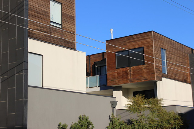 Top of townhouses, Northcote