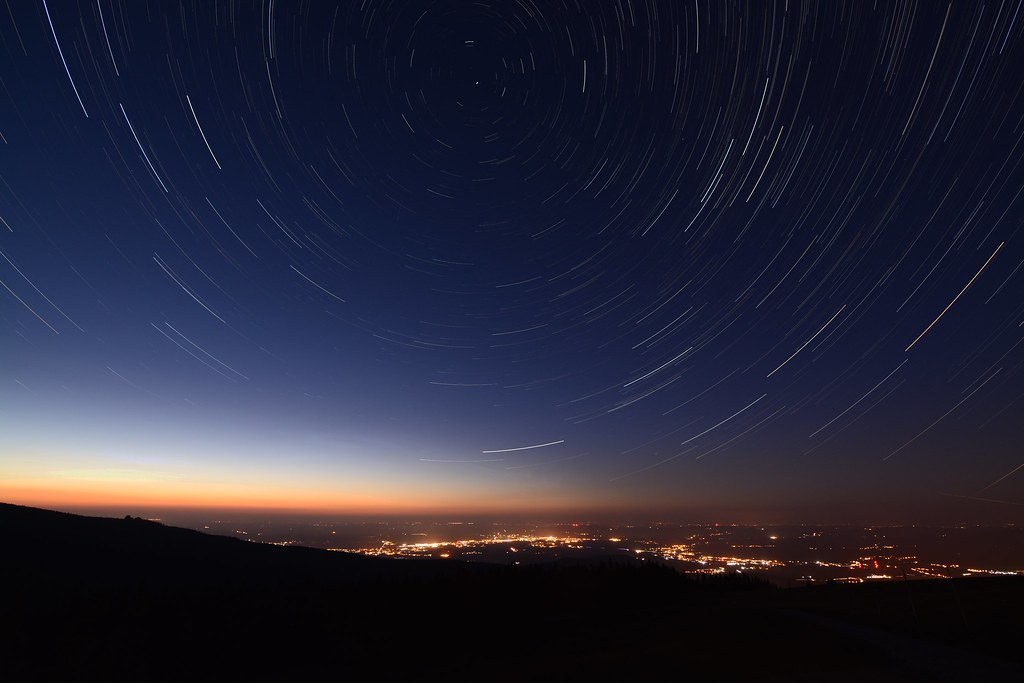Startrails over Jelenia Gora