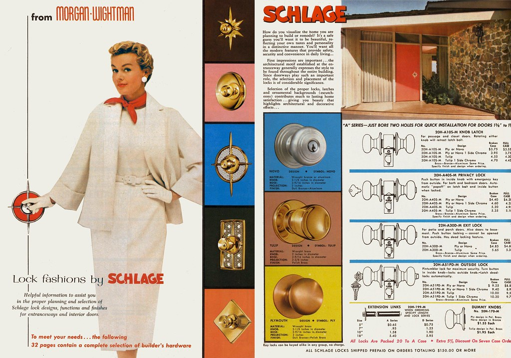 Morgan - Wightman Catalog, Schlage 1959