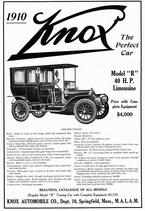 "1910 Knox, Moder ""R"" 40H.P. Limousine"