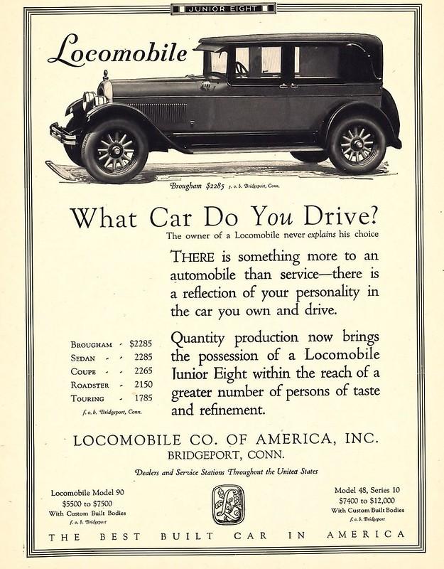 1926 Locomobile Junior Eight Brougham