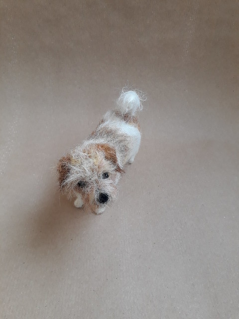 Needle felted terrier