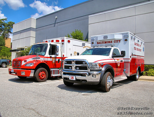 DCFD's New Medic 17 and BCFD's New Medic 18 Photo