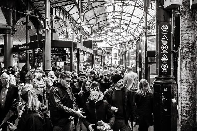 tourists in London (Borough market)
