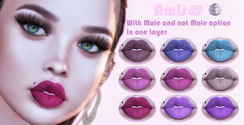 [Amis] Diva HD lipstick Collection – 9 Colors with and without Mole option - TeleportHub.com Live!