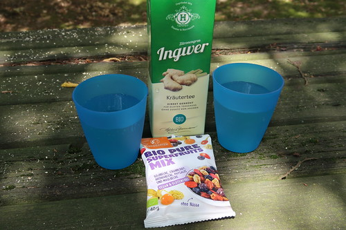 Ingwertee und Bio Pure Superfruits Mix