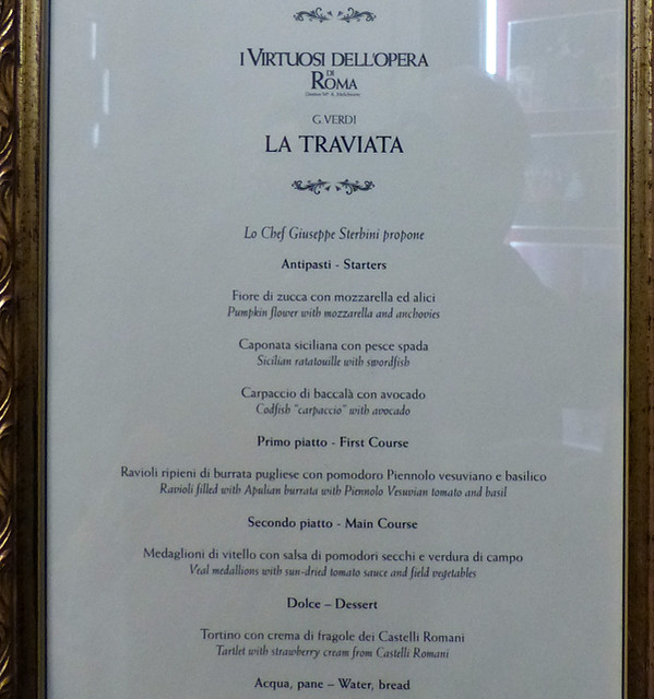 menu la traviata