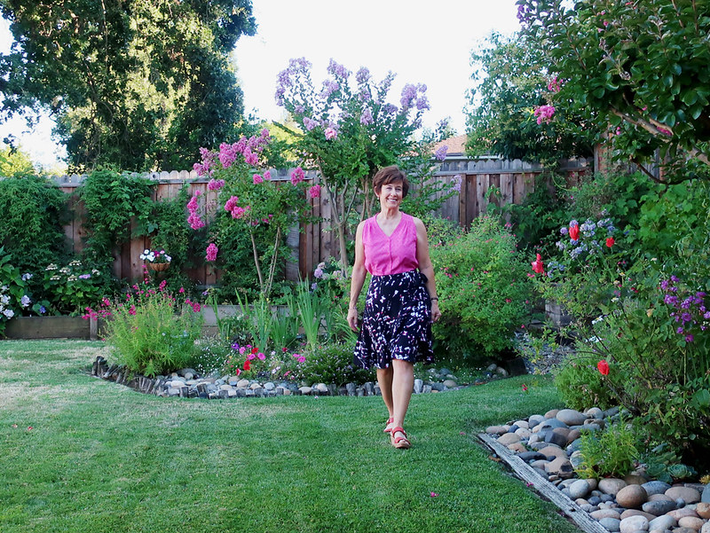 Wrap skirt in garden
