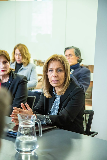 Encuentro de Embajadora de Chile en el Líbano Marta Chalhub con alumnos ACADE