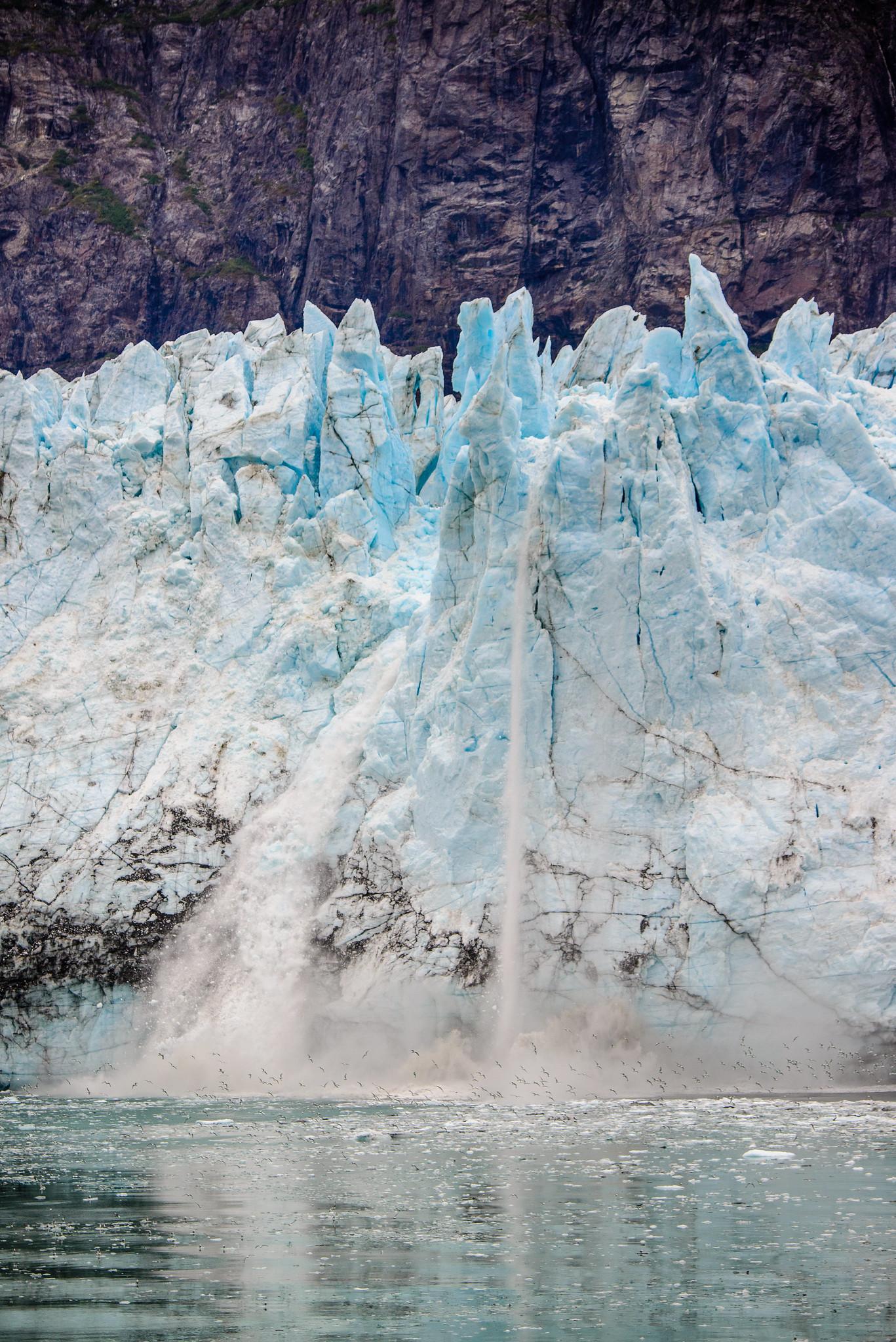 Calving of Margerie Glacier