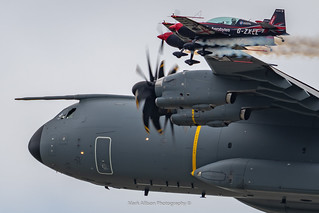 Airbus A400M and The Blades Flypast at RIAT 2019