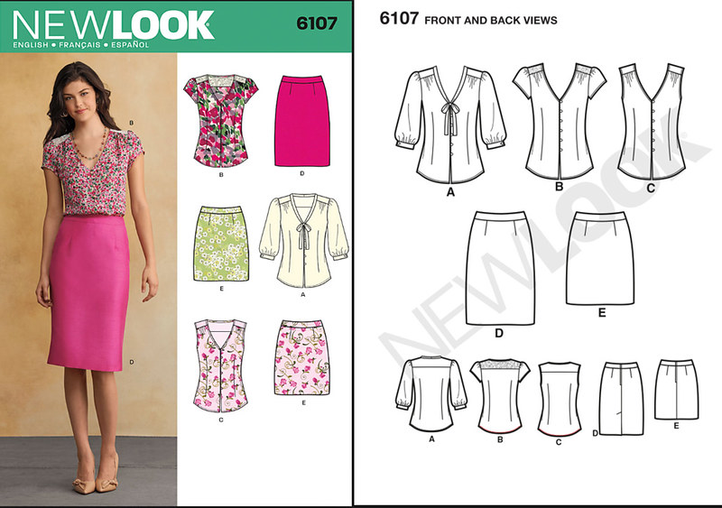 New Look 6107 pattern envelope