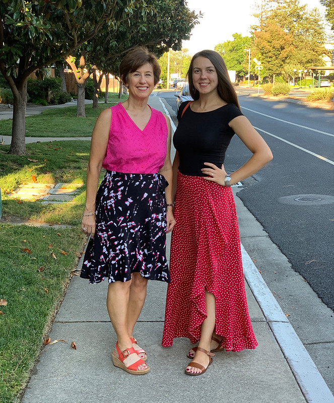 Two wrap skirts